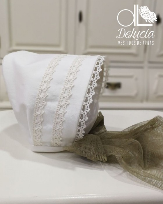 Vestido de vuelo blanco Dafnée